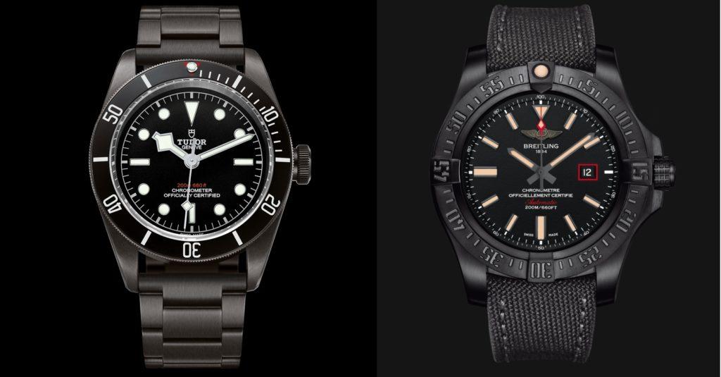 Clash of the Divers Black Edition: Breitling Avenger Blackbird 44mm Watch vs Tudor Heritage Black Bay Dark Watch