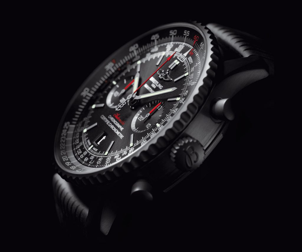 40912a39cc0 Night Flyer  The New Breitling Navitimer 46 Blacksteel Watch
