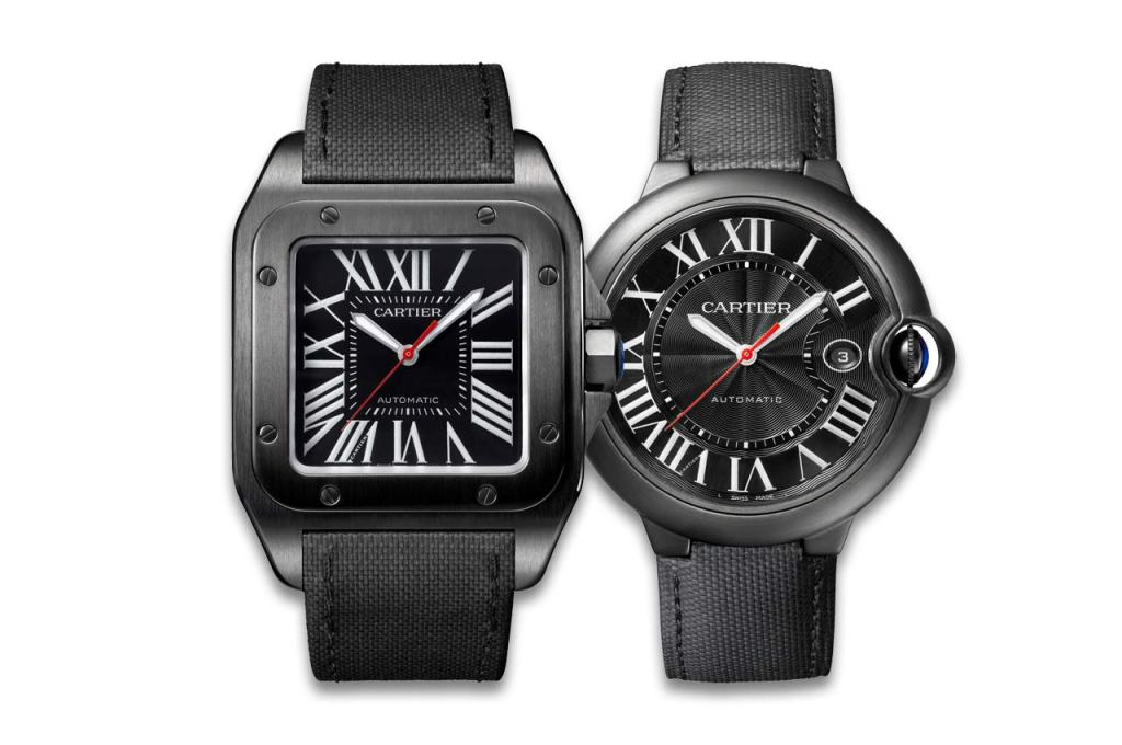 Cartier-Santos100-Carbon-and-Ballon-Bleu-Carbon