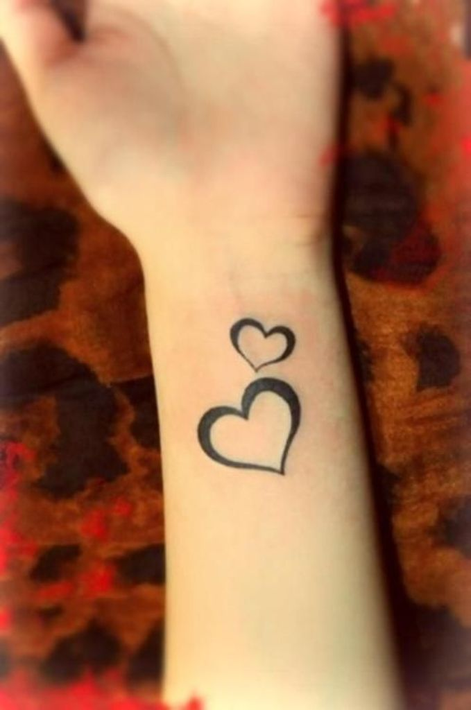 2 Hearts Tattoo : hearts, tattoo, Hearts, Tattoos, Wrists
