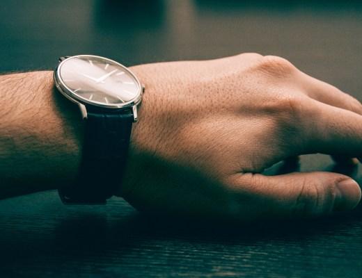 watch on left wrist