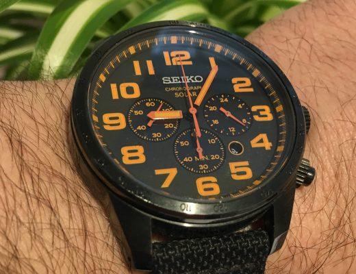Seiko Men's black watch
