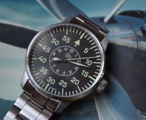 Flieger style aviator watch