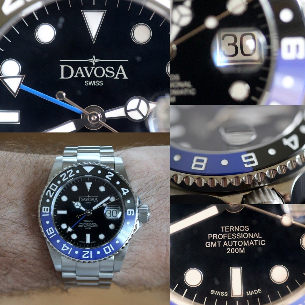 """ecb9246c9 For your review – the Davosa Ternos GMT """"Batman""""   Wrist Watch Review"""