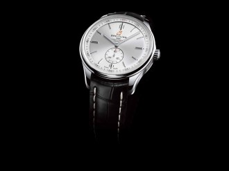 Premier Automatic 40 with silver dial and black alligator leather strap (PPR/Breitling)