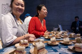 Tasty bites at the Taste of the World event at the Speed Art Museum