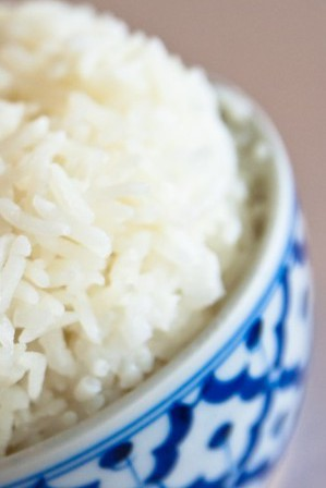 Image: Rice in a bowl.