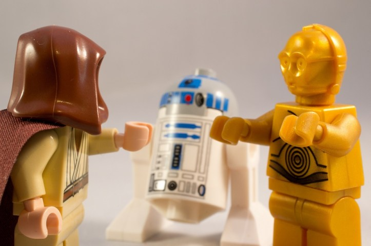 Image, Lego C-3PO and R2-D2.