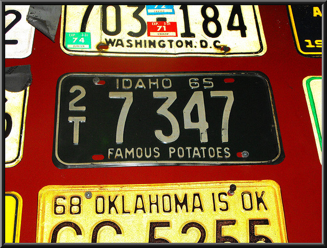 Image, US number plate.