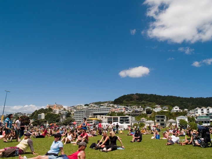 Image, Waitangi Park, Wellington, on a sunny day.