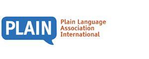 Image of logo, links to Plain Language Association International website.