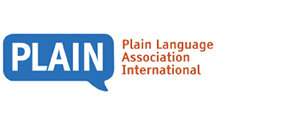 Image of logo, links to Plain Language Association International website.