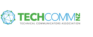 Image of logo, links to Technical Communicators of New Zealand website.