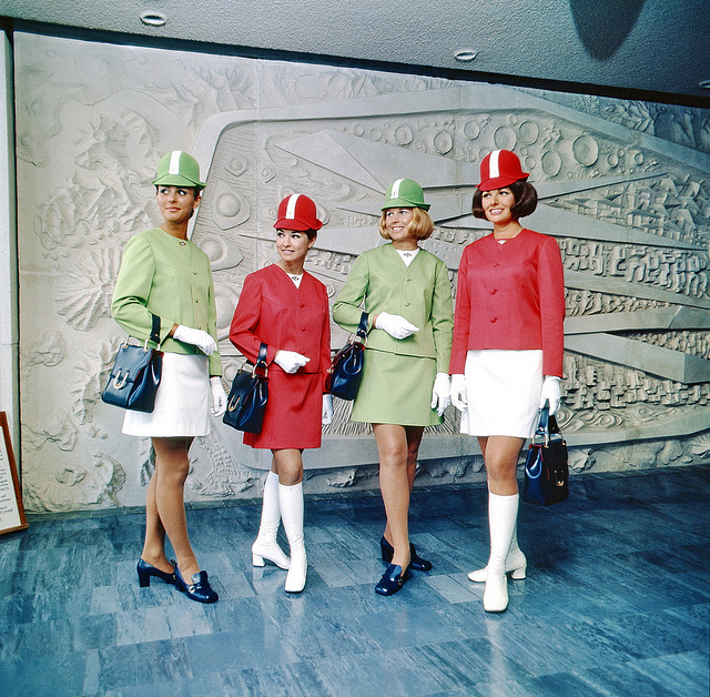 Airline hostesses in 1970