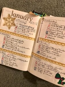Bullet Journal: Weekly Tasks