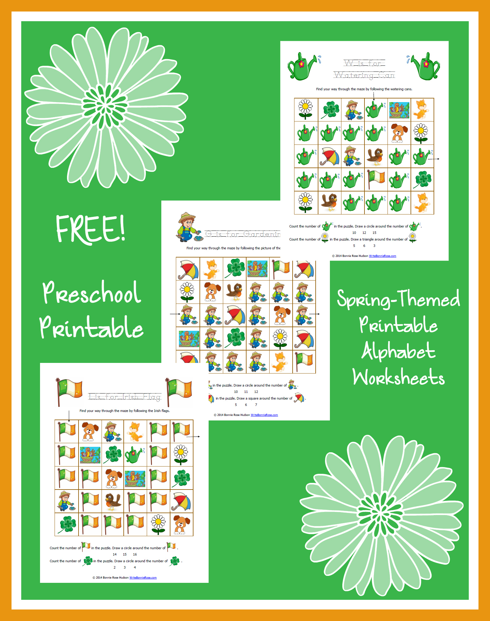 Free Spring Themed Printable Alphabet Worksheets For