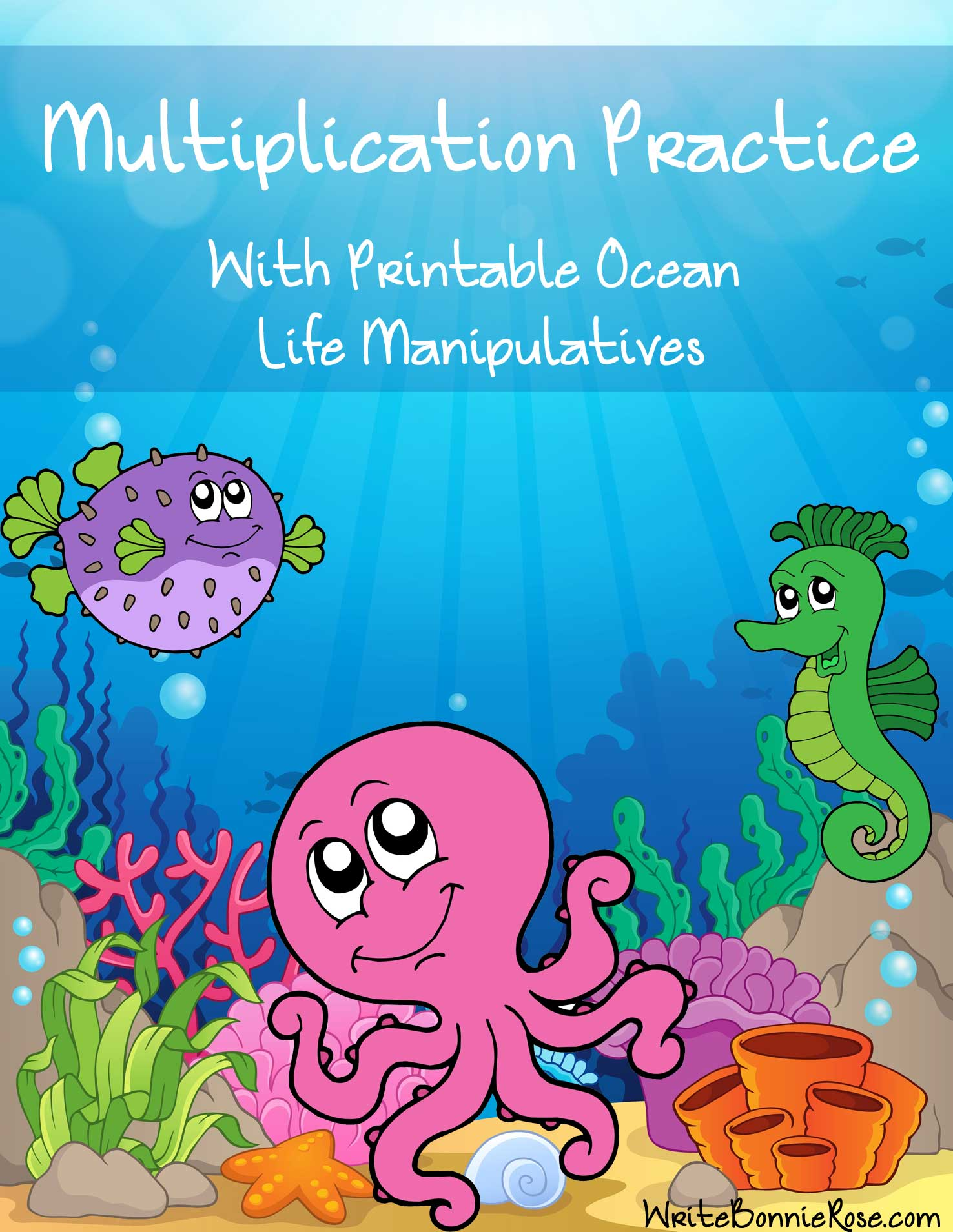 Multiplication Practice With Printable Ocean Life