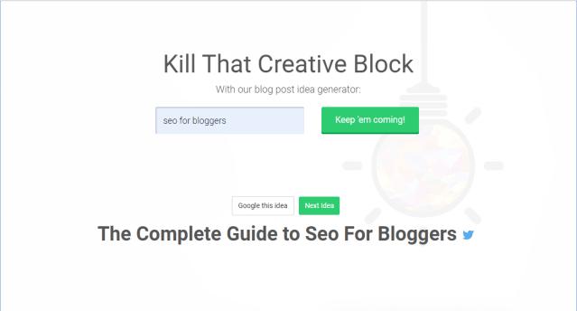 content writing tools - WebFx Blog Post Idea Generator