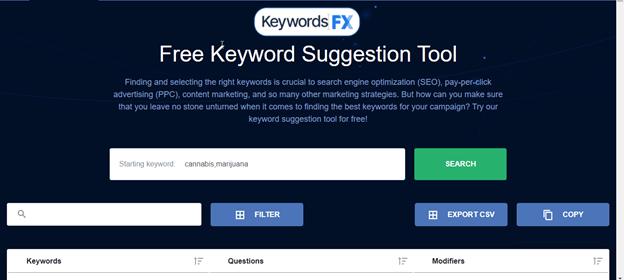 KeywordsFX by WebFX