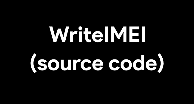 Write IMEI Source Code