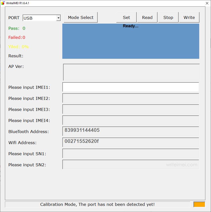 WriteIMEI Tool R1.6.4001