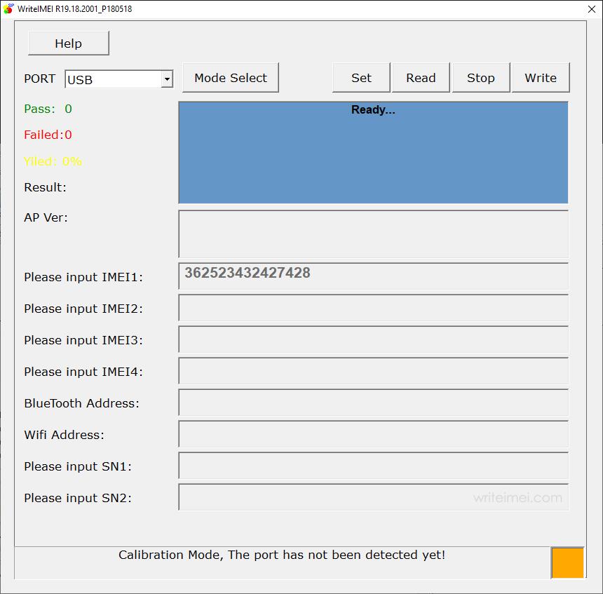 WriteIMEI Tool R19.18.2001