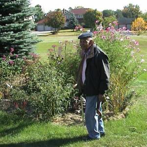 Dad in the Garden
