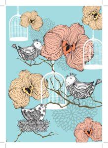 artsy bird flowers shutterstock_93106615