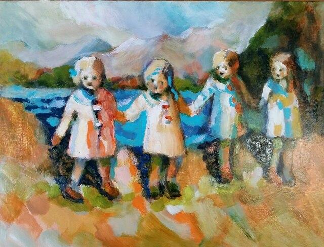 lesley-evans-4-little-girls
