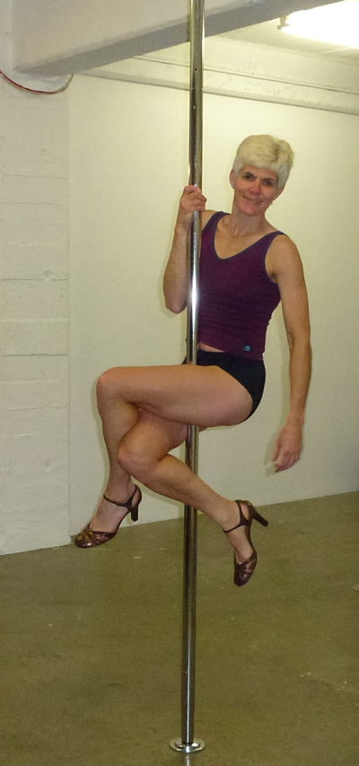 Jenny tries pole dancing