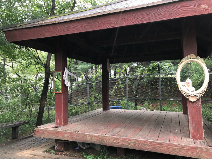 Pagoda on Gungdongsan Trail, with mirrors