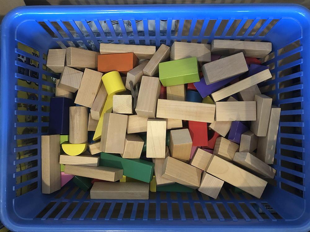 A box of children's blocks.