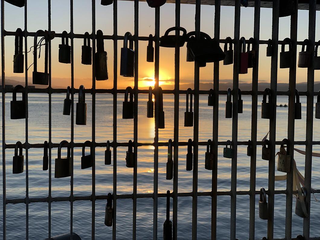 sunrise-through-padlocks