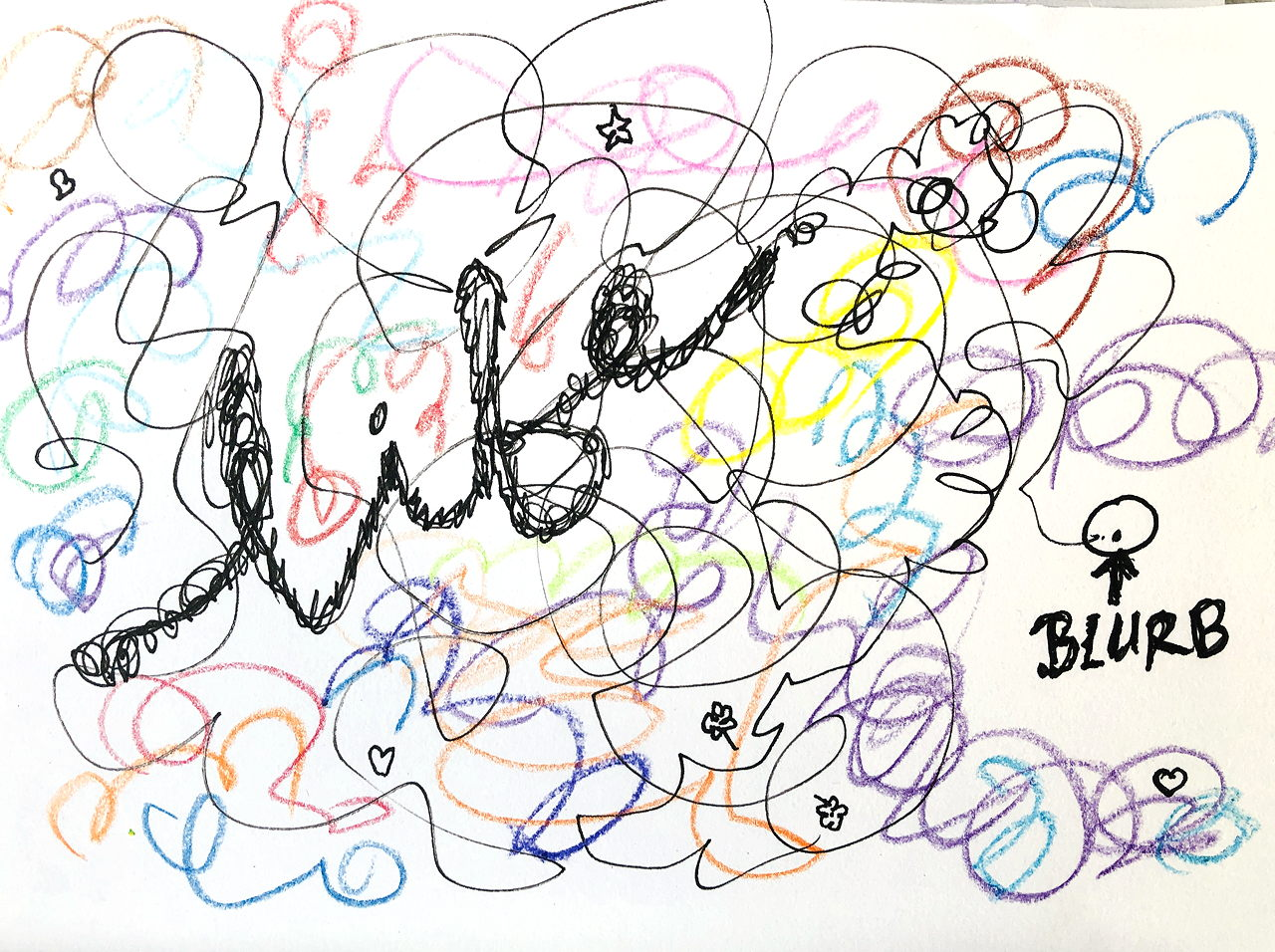 """BLURB"" is a tiny dot in the colourful scribble of life"