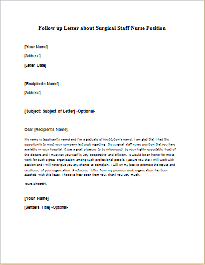 Formal Official And Professional Letter Templates Part 14
