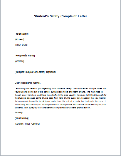 Business Letter Of Complaint Coworker Professional Resumes Sample