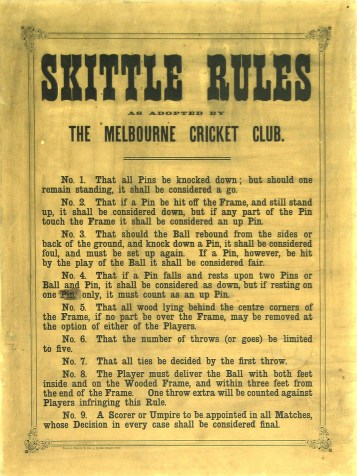 MCC Skittles Rules