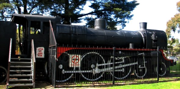 'Enter at own risk' said the friendly tank engine