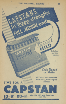 Capstan, Havelock & Turf were the cigs of choice