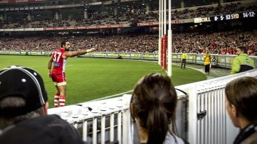 Goodes pointed the finger at racism