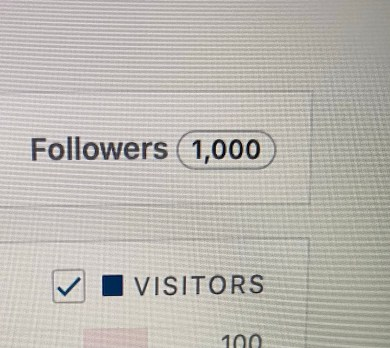 1,000 WordPress followers