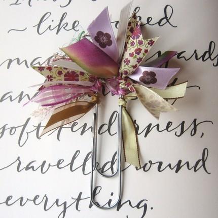 Ribbon bookmark by beachcottagestudio, $4.95