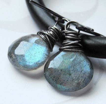 Dark galaxy earrings by AnnaArtiste, $26