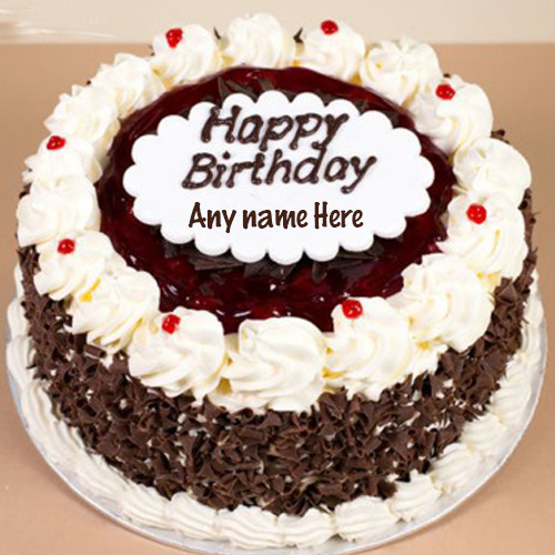 Black Forest Birthday Cake With Name Edit
