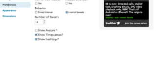 Twitter Profile Widget Configuration