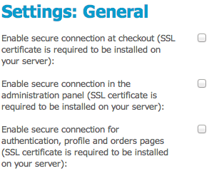 CS-Cart SSL settings