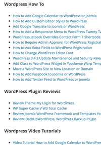 WordPress Category List