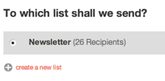 Mailchimp Recipients List