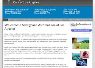 Allergylosangeles Joomla Website