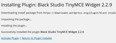 Wordpress Activate Plugin Screen